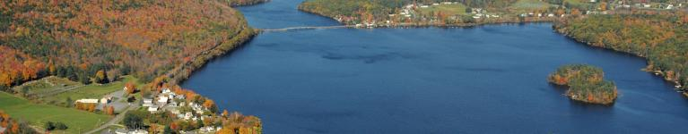 Aerial Mascoma Lake